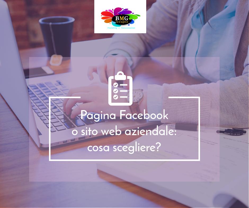 pagina facebook o sito web aziendale cosa è più importante